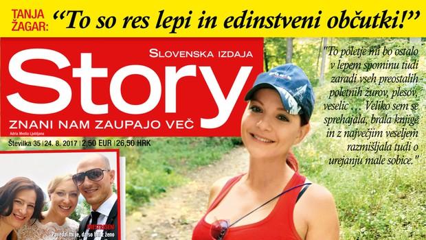 Tanja Žagar že ureja otroško sobico! Več v novi Story! (foto: Revija Story)