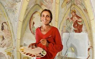 Restavratorka Anita Kavčič Klančar o umetnosti srednjega veka