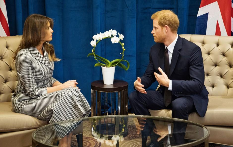 Melania Trump očarala princa Harryja (foto: Profimedia)