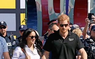 Princ Harry in Meghan Markle:  V javnosti sta se držala za roke