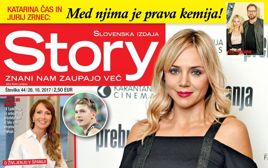"Katarina Čas za novo Story: ""Bolj se zavedam minljivosti!"" (foto: Revija Story)"