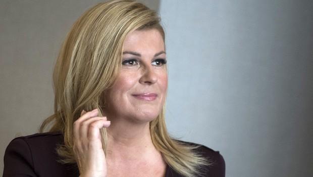 Hrvaški predsednici je pri doktoratu mentor slovenski profesor (foto: profimedia)