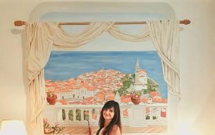 Samouka slikarka Neža Erjavec se je učila prek YouTuba