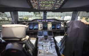 Pilotoma zaradi prepira v pilotski kabini prepoved letenja