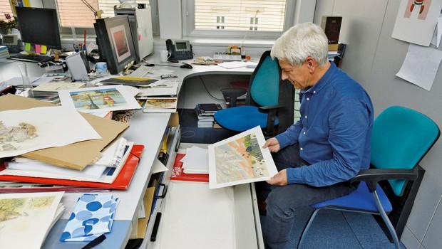 Pavle Učakar, slikar in urednik: Delati knjige za otroke je velika stvar (foto: Primož Predalič)