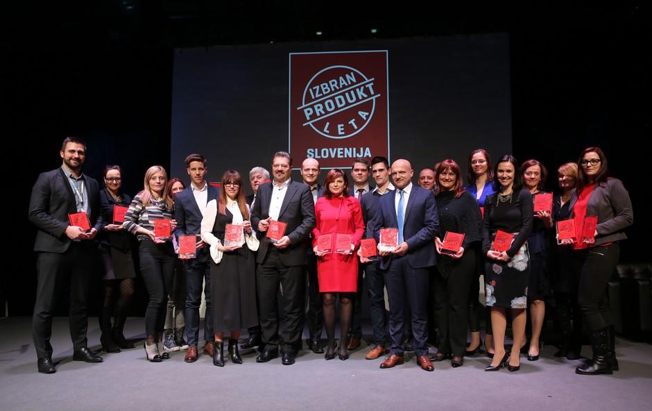 Razglasitev zmagovalcev Produkt leta 2018 po izboru slovenskih potrošnikov (foto: Helena Kermelj)