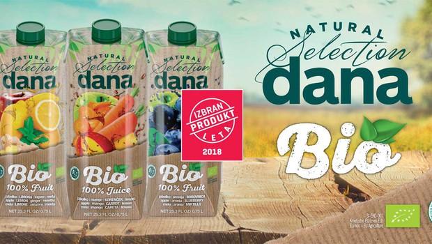 BIO 100 % sokovi Dana Natural Selection – skrbno izbrani okusi za vsak del dneva (foto: Promocijski material)