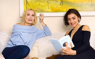 Tanja Ribič in njena hčerka Zala sta videti kot bi bili sestri