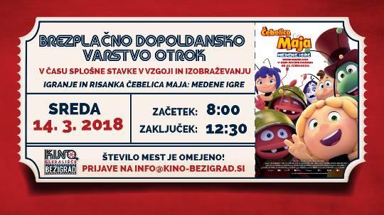 Kino Bežigrad organizira brezplačno dopoldansko varstvo otrok v času stavke! (foto: promo)
