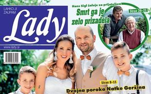 Dvojna poroka Natke Geržina: Z bratom dahnila usodni da! Več v novi Lady!