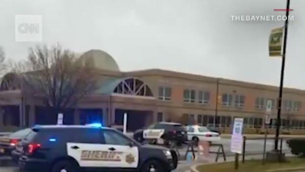 Na šoli v Marylandu v streljanju dva ranjena, strelec umrl (foto: twitter)