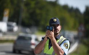 Policisti najavljajo meritve hitrosti na kar 617 lokacijah po Sloveniji