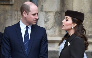 Kate Middleton in princ William ujeta v redkih intimnih trenutkih
