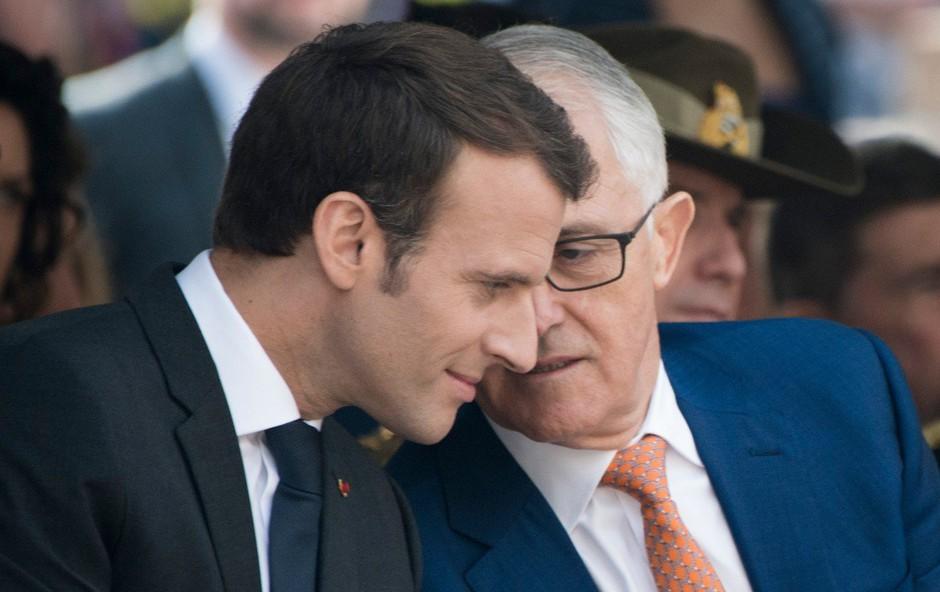 Macron zabava družabna omrežja s svojo zahvalo ženi avstralskega premierja (foto: profimedia)