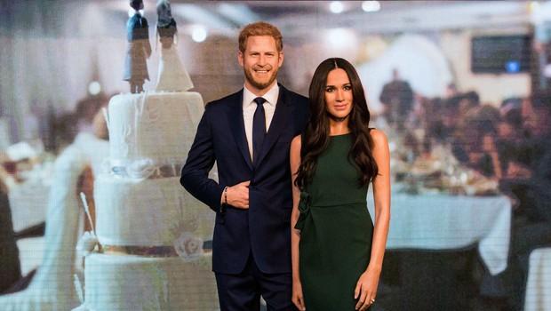 Meghan Markle in princ Harry dobila svoji voščeni lutki (foto: Profimedia)