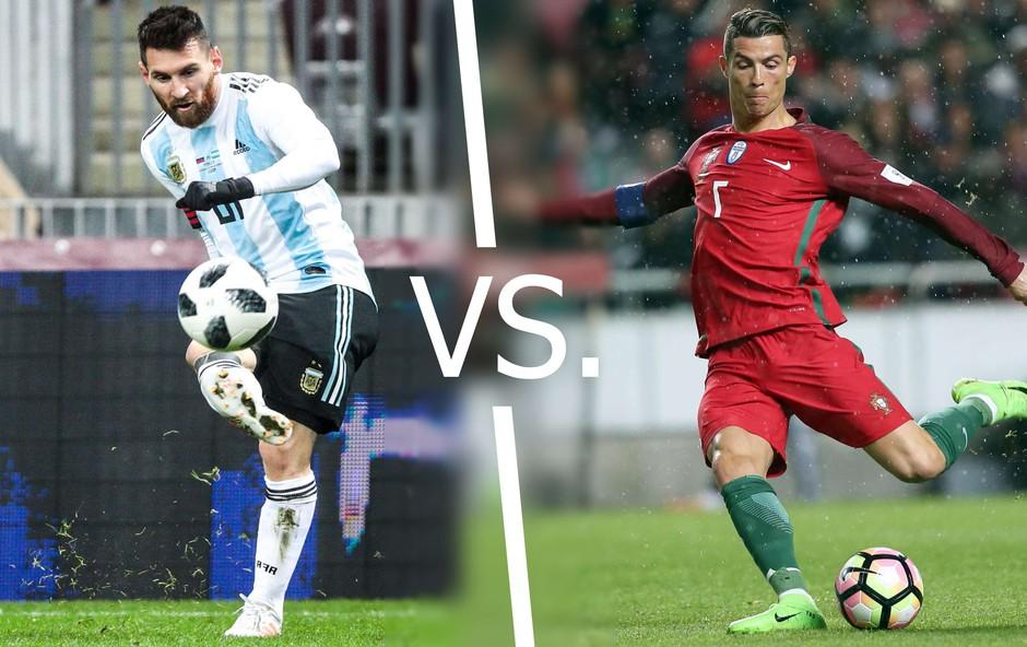 Messi in Ronaldo iz oči v oči! (foto: Arhiv govori.se)