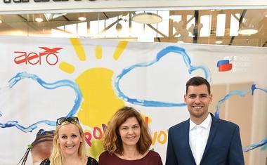 Dobrodelna akcija blagovne znamke Aero z Robertom in Piko Kranjec