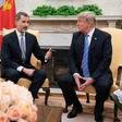 Ostre besede za Trumpa tudi ob obisku španskega kraljevega para v Beli hiši