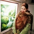 Slikarka Andreja Srna iz tujine vedno prinese navdih