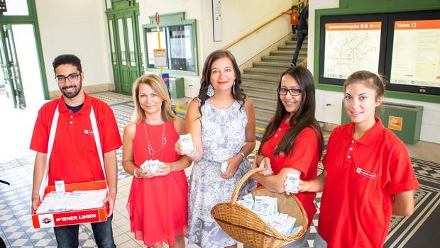Brezplačni deodoranti za potnike dunajske podzemne (foto: PID Houdek)