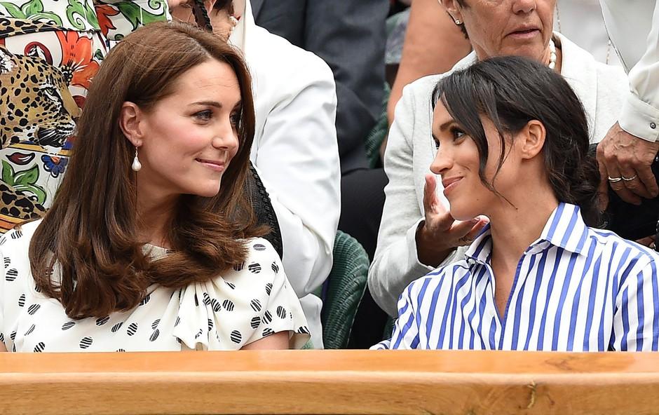 Strokovnjakinja za govorico telesa razkrila, kakšen odnos imata Meghan Markel in Kate Middleton (foto: Profimedia)
