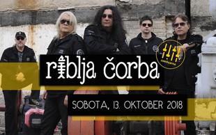 Najbolj kultna rock skupina nekdanje Jugoslavije Riblja Čorba prihaja v Cvetličarno