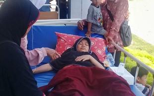 Po potresu na indonezijskem otoku Lombok je na gori ujetih več sto ljudi