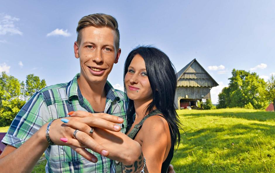 Renato Lužar in Tamara Korošec (Ljubezen po domače): Obiskali smo ju na kmetiji! (foto: Igor Zaplatil)