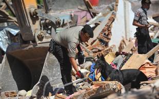 Indonezijski otok se je znova tresel, število žrtev nenehno narašča