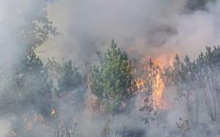 Jadranska magistrala zaprta zaradi požara pri Omišu, kraj Mimica brez elektrike