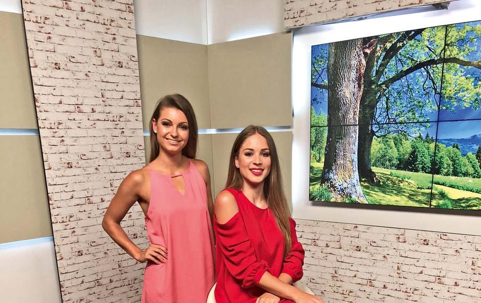 Simpatični vremenarki Ines Korošec in Monika Zorčič se predstavita (foto: arhiv TV3)
