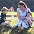 Kate Middleton med nakupovanjem čevljev za princa Georga in princeso Charlotte neprijetno presenetila