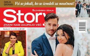 Sanja Grohar: Pod poročno obleko skrivala trebušček