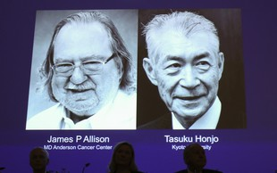 Nobelovca James P. Allison in Tasuku Honjo nad raka z imunoterapijo!