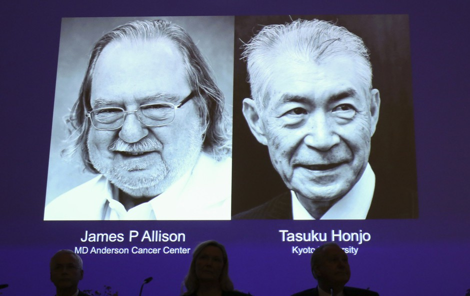 Nobelovca James P. Allison in Tasuku Honjo nad raka z imunoterapijo! (foto: profimedia)