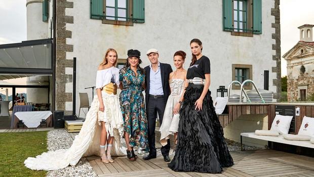 Ugledna družina Simčič združila vinsko-modni sij (foto: Manuel Kovšca)