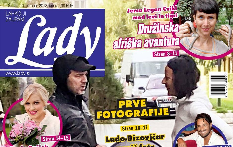 Lado Bizovičar prvič očka in že ujet z vozičkom! (foto: Lady)