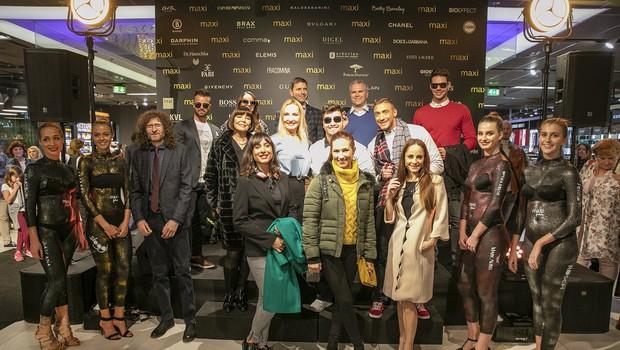 Odprtje prenovljenega pritličja blagovnice Maxi pozdravili tudi Tanja Ribič, Nina Gazibara, Oto Pestner in Adi Smolar (foto: Maxi Press)