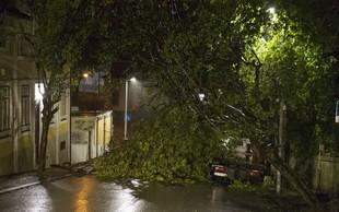 Orkan Leslie je na poti do Portugalske oslabel v tropsko nevihto