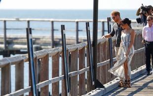Tako visokega razporka, kot ga je nosila noseča Meghan Markle, pri Kate Middleton nikoli nismo videli