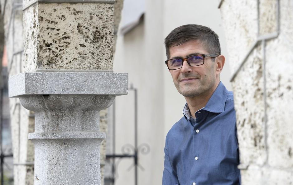 """Matjaž Rakovec (kandidat za župana mesta Kranj): """"Zdrava družba napolni srce!"""" (foto: PREDDY)"""