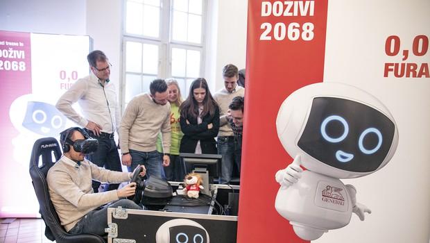 Virtualni robotek Geri bo mlade nagovarjal k trezni udeležbi v prometu (foto: Generali Press)