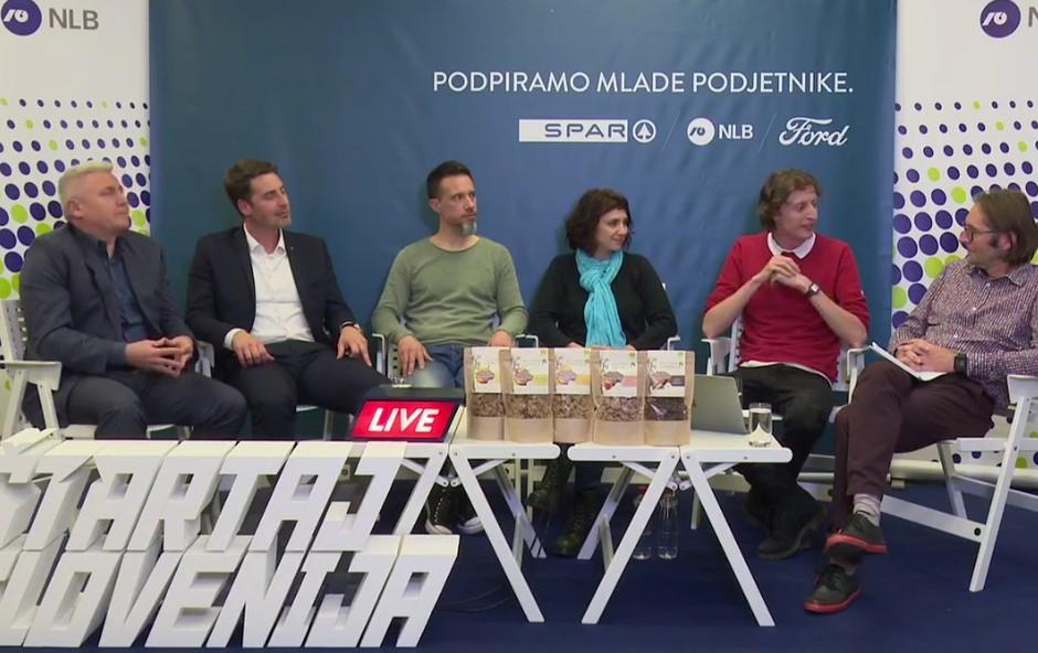 Grega in Tina Teršek (Moja presna granola) o podjetniški izkušnji na Roadshow Live! (foto: Facebook Štartaj Slovenija)