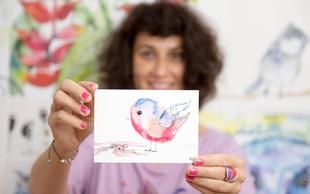 Urška Juršič (umetnica UriKuri) najraje slika motive, ki izražajo moč, nežnost in igrivost