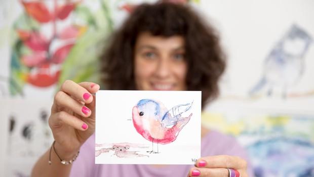 Najbolj popularen je motiv ptiček Gregec. (foto: PR)