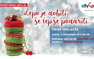 Čarobni Citypark bosta v decembru obiskala tudi Miklavž in Božiček