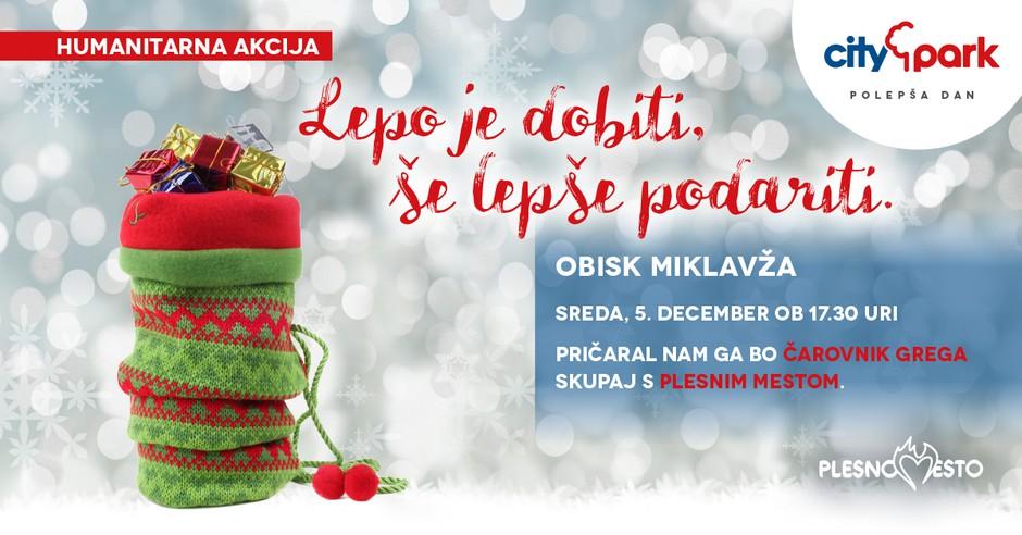 Čarobni Citypark bosta v decembru obiskala tudi Miklavž in Božiček (foto: Citypark Press)