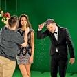 Predpraznično vzdušje: Zabava na snemanju oddaje Voščilnica