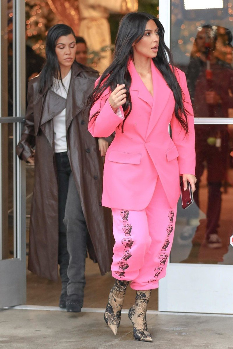 Kim in Kourtney Kardashian
