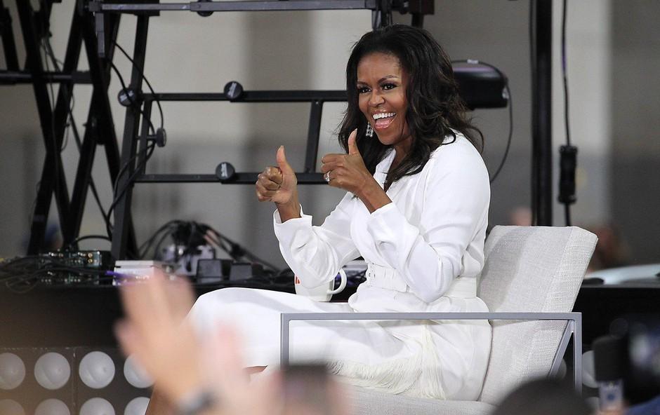 Michelle Obama navdušila s svojimi naravnimi lasmi. Poglejte, kakšni so! (foto: Profimedia)